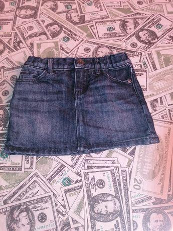 Джинсовая юбка на девочку, юбочка для девочки, 2-3 г