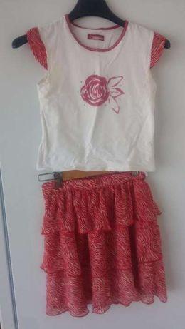 Conjunto de saia e blusa muito fino