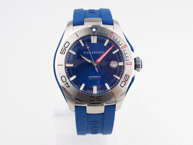 Мужские новые часы Davidoff Velocity Diver Blue Dial Strap 42 мм