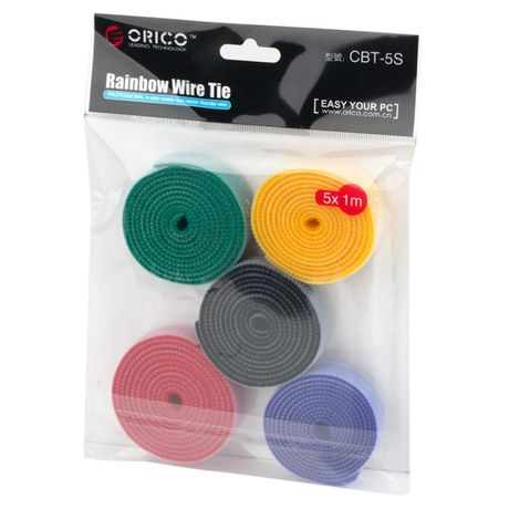 липучки стяжки для проводов набор 5 метров органайзер цвета