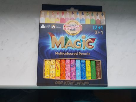 Koh - i - noor magic nowe kredki 3d drewniane