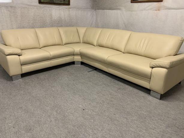 Мягкий кожаный диван Шкіряний кутовий диван Мягкая кожаная мебель