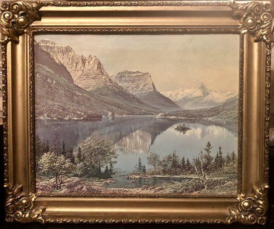 Uszkodzony Obraz Jezioro Mascardi Rionegr 60 x 50