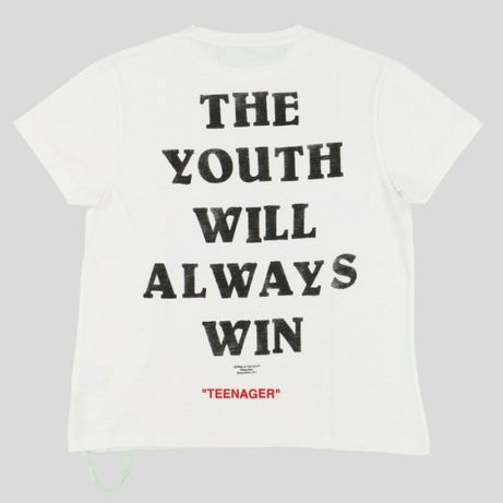 Off white - The youth will always win - nova e rara (XS)