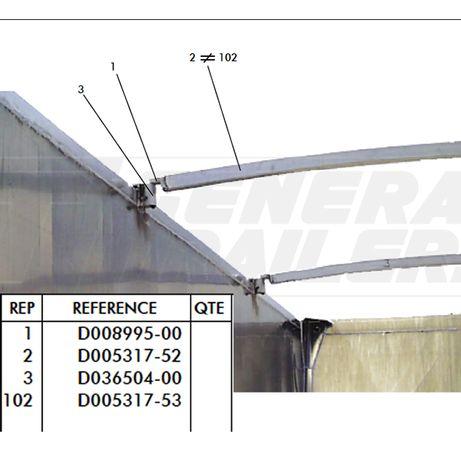 Штанга Балка Комплектующие прицепов съемный модуль Планка
