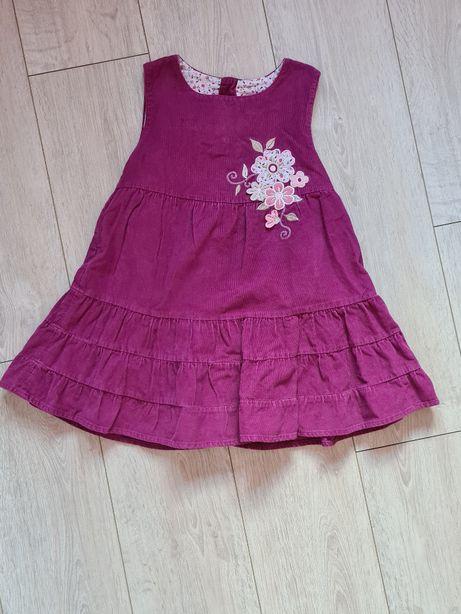 Sukienka sztruksowa rozmiar 110-116