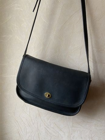 Винтажная кожаная сумка coach