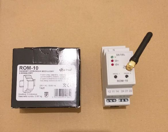 Radiowy odbiornik ZAMEL ROM-10 - szyna TH35 - NOWY 4 szt.