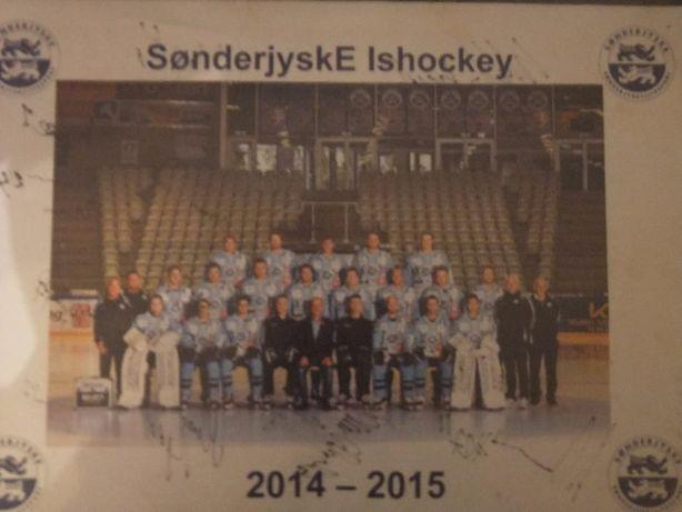 Plakat z autografami Drużyna Hokejowa Sonderyjske Ishockey