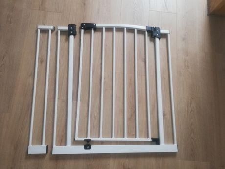 Bramka na schody metalowa biała zabezpieczająca