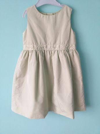 Sukienka ocieplona 104 elegancka h&m
