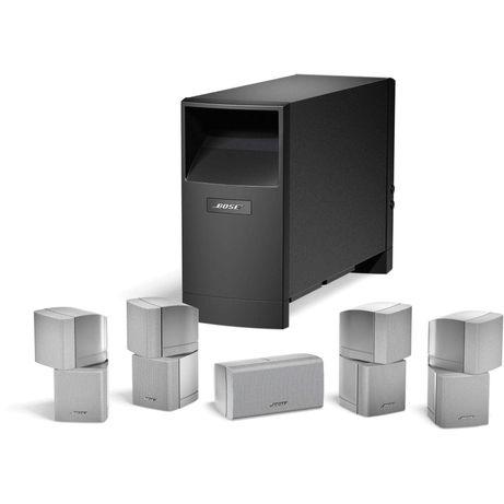 Sistema som 5.1 Bose Acoustimass 10 serie III c/ colunas cinza prata