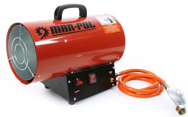 Nagrzewnica gazowa 15kW 320m3/h dmuchawa piecyk +wąż, reduktor MAR-POL