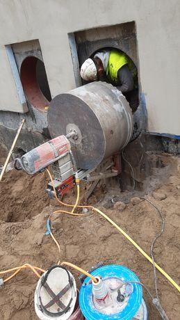 Cięcie betonu, Wiercenie w betonie, Otwory - Technika Diamentowa