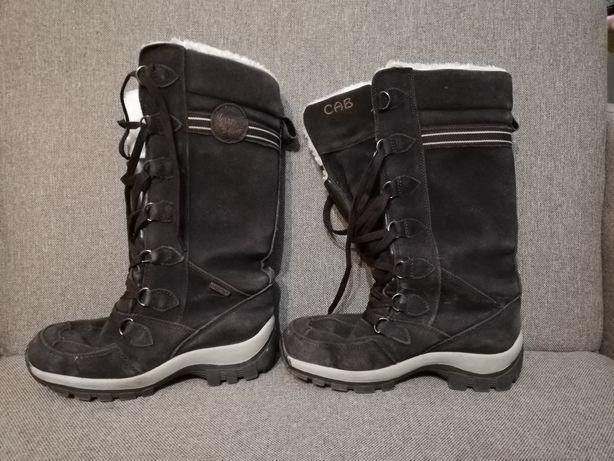 Buty zimowe śniegowce skórzane 40