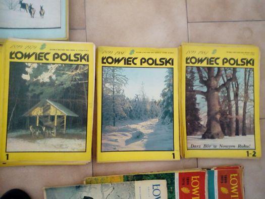 Łowiec polski czasopisma od 1974 do 1996r !!!