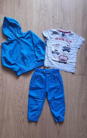 Zestaw komplet spodnie bluzka bluza cool club 92