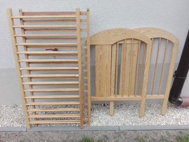 Łóżeczko dziecięce drewniane - sosna 120x60