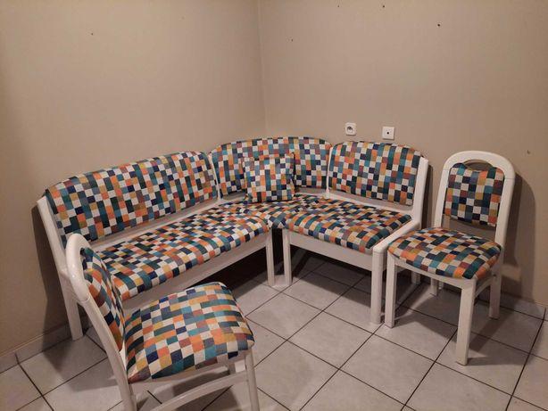 Kanapa narożna stół i 2 krzesła, komplet do kuchni