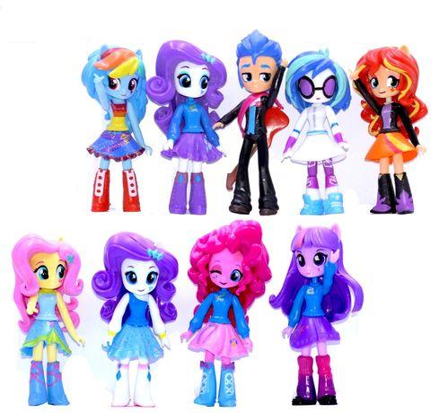 Набор 9в1 куклы Мой маленький (литл пони) Девочки, Эквестрия, 13 см