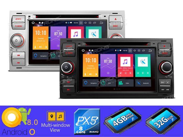 "Rádio FORD Android 8 Octa-Core Ecrã 7"" HD 4GB RAM Wifi GPS Bluetooth"