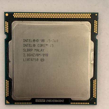 Процессор Intel Core i5 760 4x2.8GHz 8mb cache s1156 бу робоч