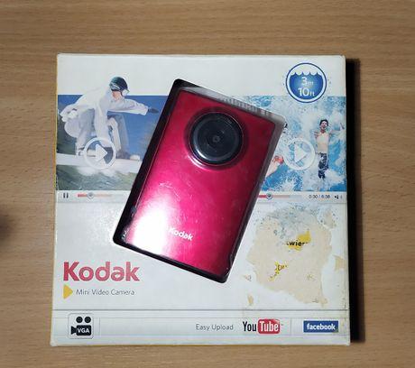 Kodak Mini Video Camera ZM1 czerwony,100% sprawny, instrukcje, pudełko