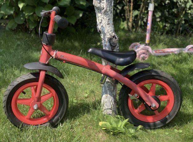 Rowerek biegowy pompowane koła czerwony HAUCK E-Z Rider