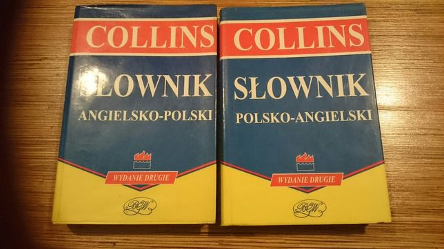 Słownik polsko-angielski,angielsko polski Collins