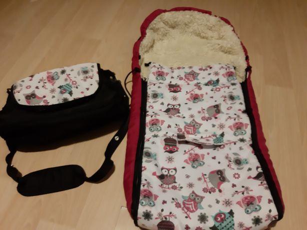 Śpiwór do wózka z torbą