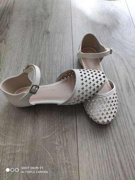 Skórzane buciki sandałki Nine West rozm 32/20,5 cm