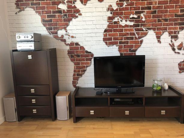 Szafka pod TV, półka i komoda z barkiem - Bellagio / Forte