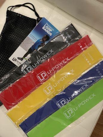 Оригинал Фитнес резинки U-powex комплект 5 шт + мешочек + буклет