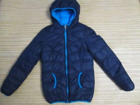 Дутая Деми курточка двухсторонняя на рост 152