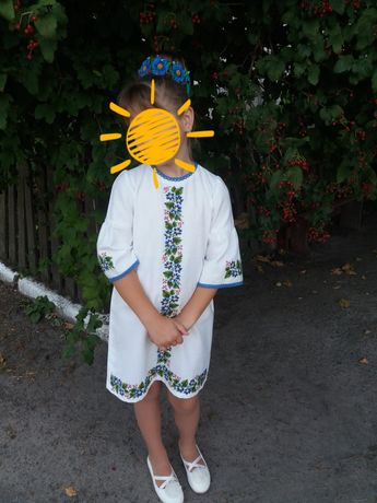 Вишита сукня ручної роботи на 128 - 140 см