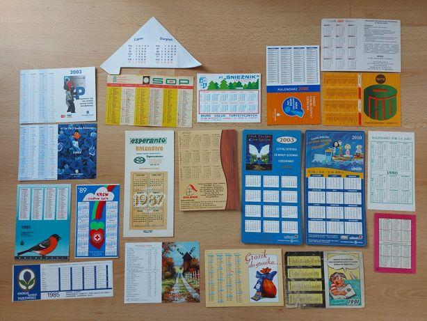 Kalendarzyki listkowe od 1960 roku, ok. 140 sztuk