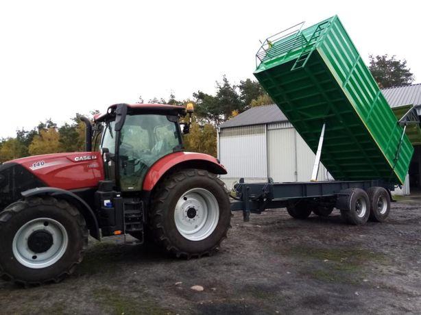 Usługa wynajem ciągnik rolniczy przyczepa budowlana