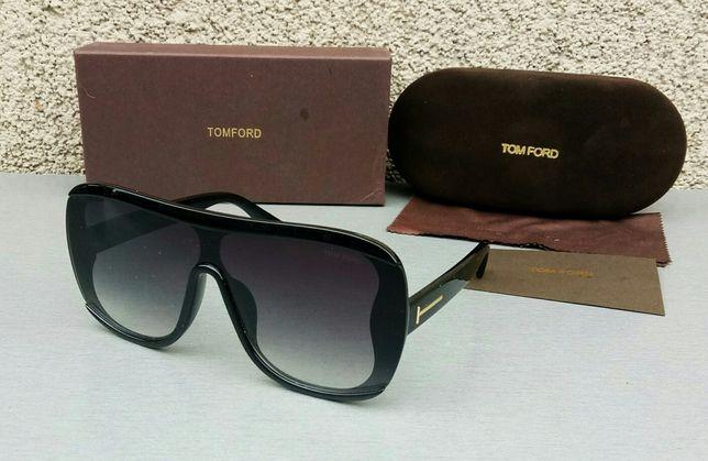 Tom Ford Porfirio очки женские от солнца стильные черные с градиентом