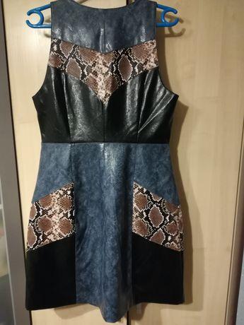 Sukienka z eko skóry