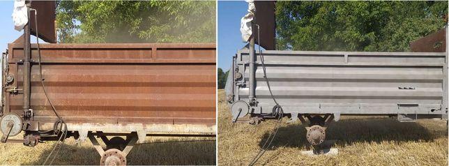 Mobilne piaskowanie/hydropiaskowanie/sodowanie/mycie ciśnieniowe