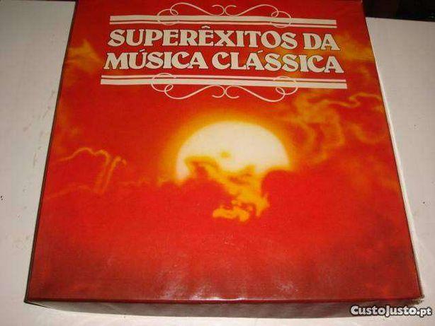 SUPER ÊXITOS DA MÚSICA CLÁSSICA, cx com 10 discos vinil