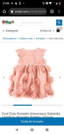 Sukienka dla dziewczynki rozmiar 68cm