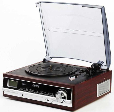 """Gramofon """"CAMRY"""" CR 1113 z radiem i budzikiem (brązowy)"""