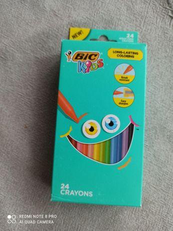Детские восковые карандаши Bic kids.