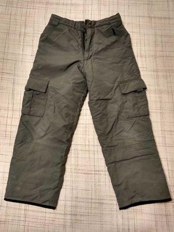 Ocieplane spodnie zimowe, chłopięce, wiek 7-8 lat