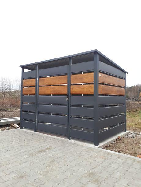 Wiata smietnikowa 3x2 wiata panelowa schowek garaż smietnik