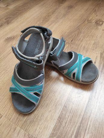 Szare sandały damskie, dziewczęce Regatta