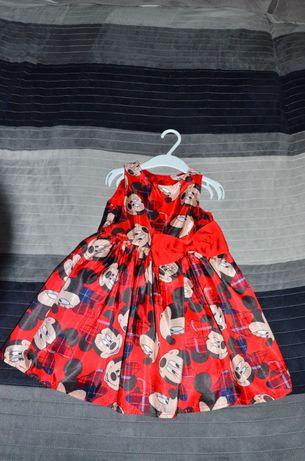 Sukienka dla dziewczynki H&M Myszka Mini r. 92