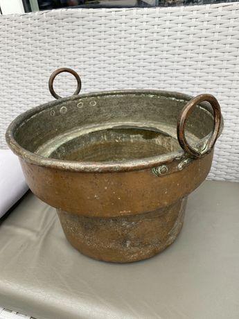 Ogromne średniowieczne wiadro miedziane węglarka baniak naczynie