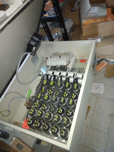 Конденсаційна установка, конденсатори, контактори.
